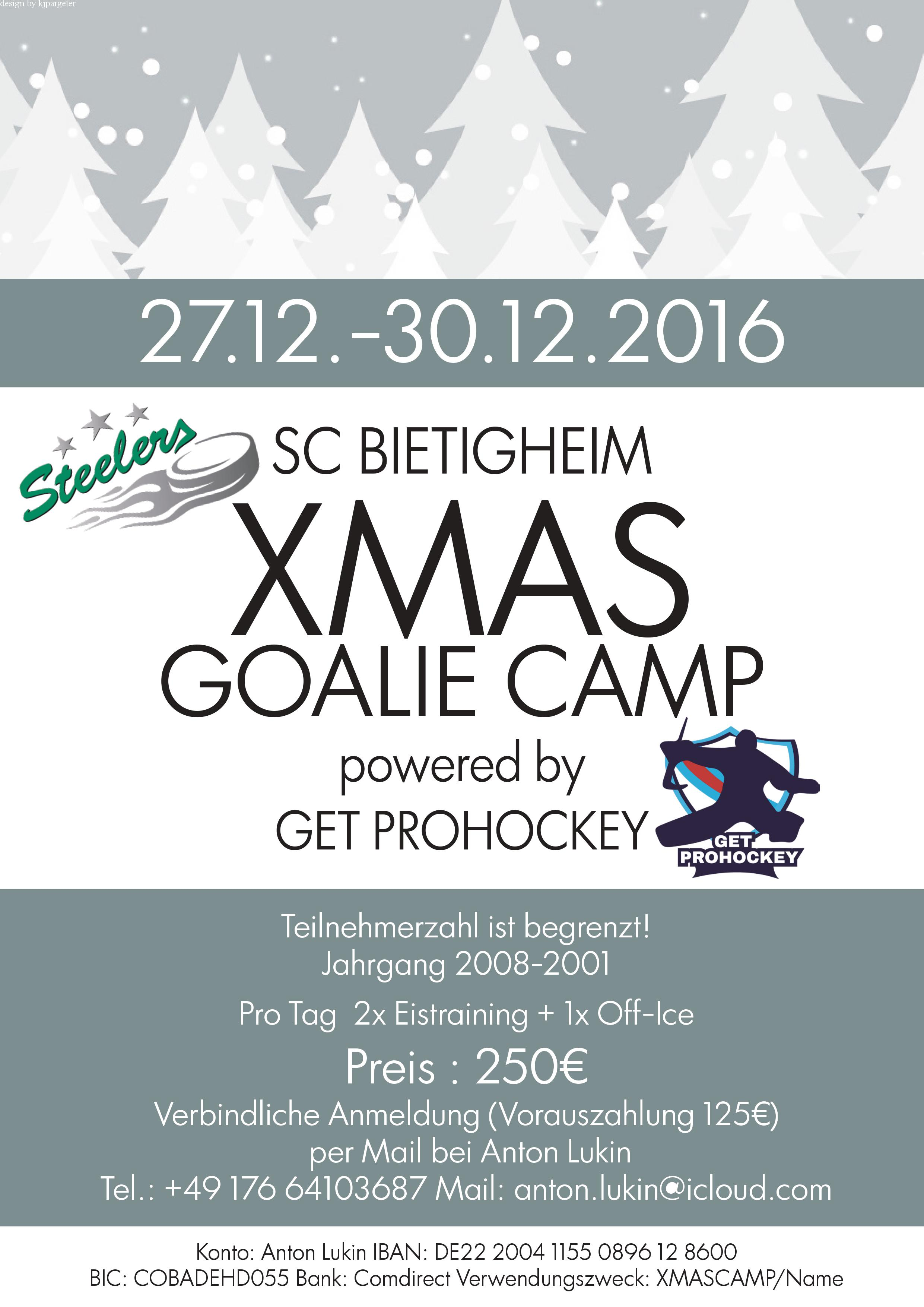 Xmas Goalie-Camp Bild